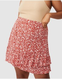 Cotton On Curve - Asymmetric Frill Mini Skirt