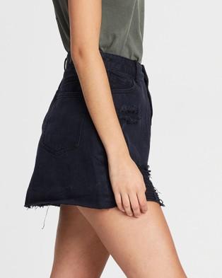 Silent Theory - Leading Denim Skirt - Denim skirts (BLACK) Leading Denim Skirt