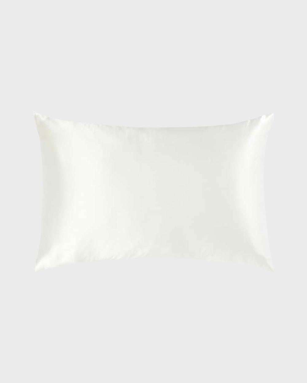Masqe Silk Pillow Case Sleep White