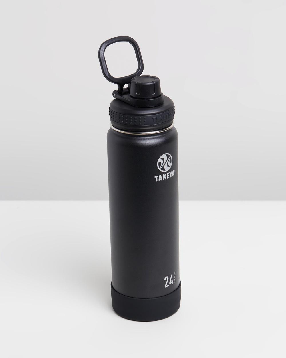 TAKEYA 700ml Insulated Stainless Steel Bottle 24oz Water Bottles Onyx
