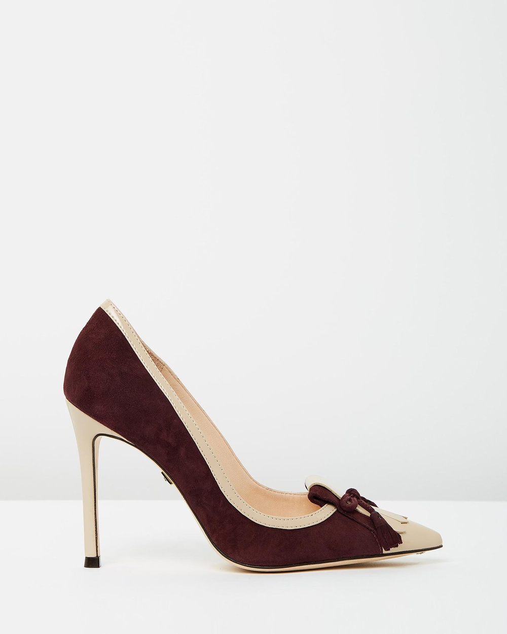 Nina Armando Madison All Pumps Merlot Suede & Beige Patent Madison