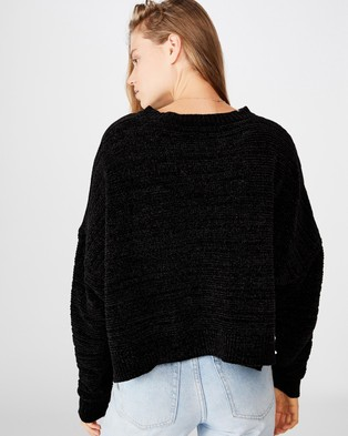 Cotton On Chenille Rib Pullover - Jumpers & Cardigans (Black)