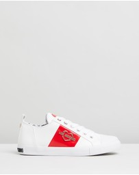 LOVE MOSCHINO - Lace-Up Heart Sneakers