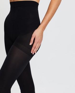 The Legwear Company 2 Pack Mixed Tights   60 & 120 Denier - Full Length (Black)