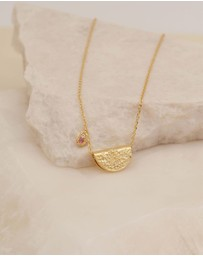 By Charlotte - October Radiate Your Light Gold Pendant Necklace
