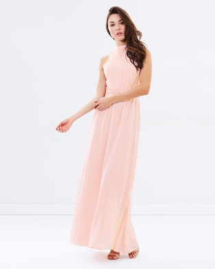 Lumier – When Will I See you Again High Neck Dress – Bridesmaid Dresses Blush