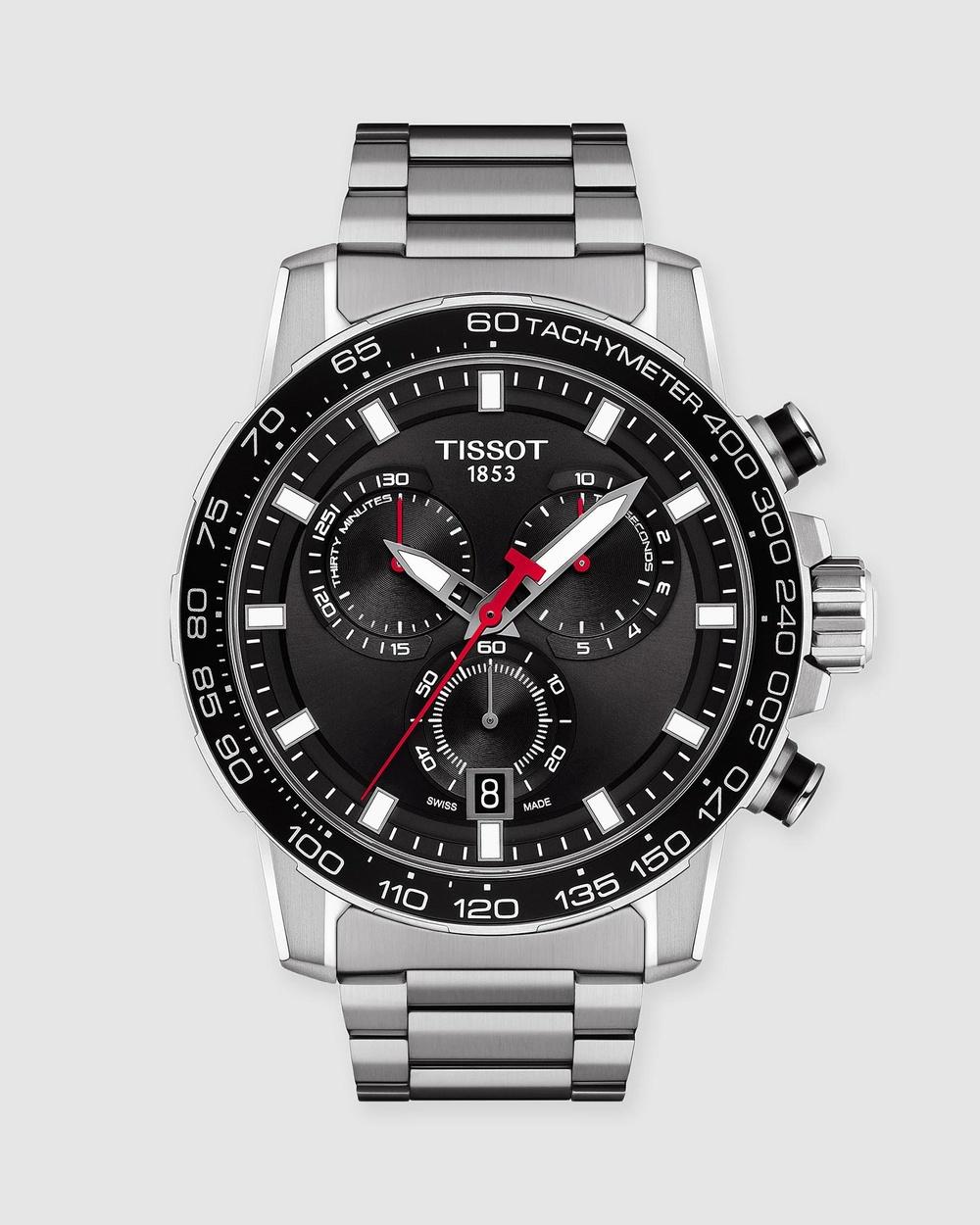 Tissot SuperSport Chrono Watches Black & Silver