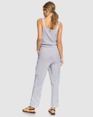 Roxy Womens Another You Strappy Jumpsuit - Jumpsuits & Playsuits (MOOD INDIGO LAGOS ST)