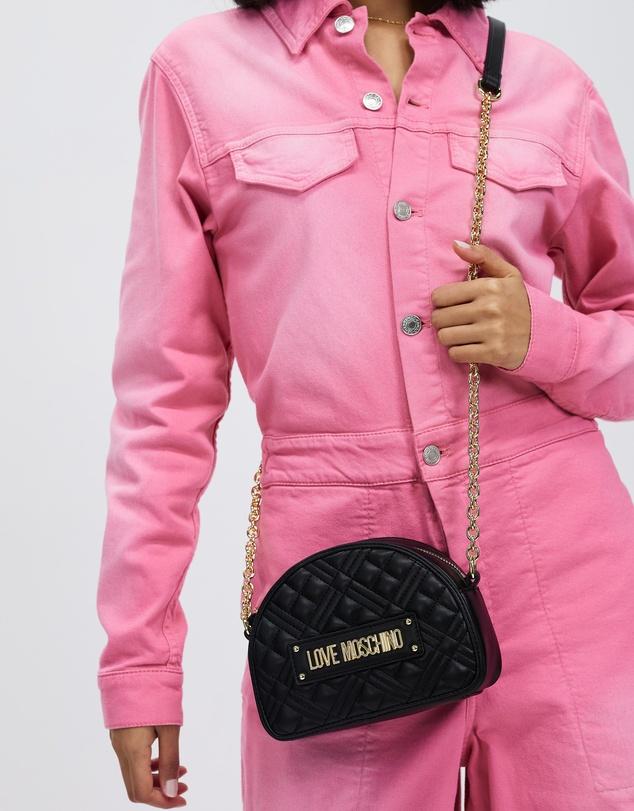 Women Quilted Soft PU Crossbody Bag