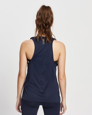 Reebok Performance United By Fitness Perforated Tank Top - Muscle Tops (Vector Navy)
