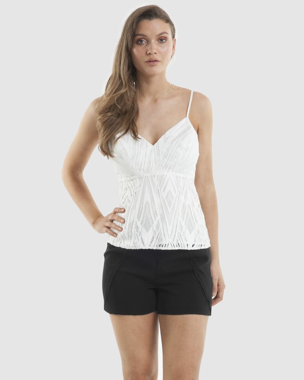Amelius Eden Lace Top Tops White Eden Lace Top