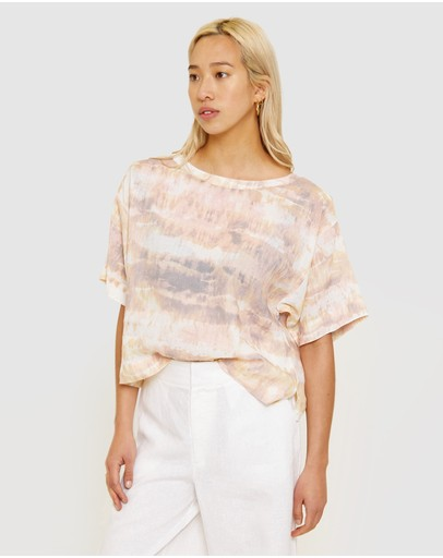 Jag Lucy Ramie Shell Top Tie Dye