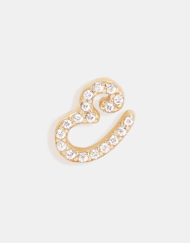 Women 14K Gold Diamond Love Letter E Single Earring