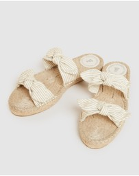 French Connection - Double Bow Espadrille Sandals