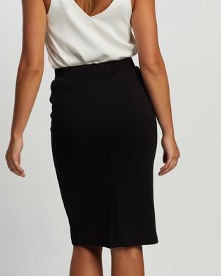 Atmos&Here Ponte Pencil Skirt - Pencil skirts (Black)