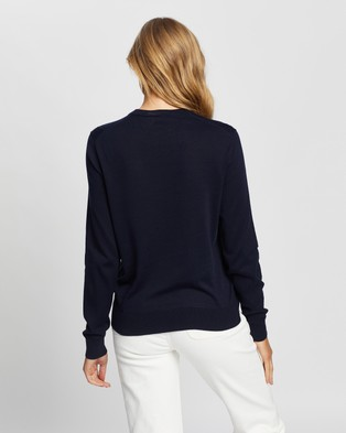 Lacoste Motion Crewneck Knit - Jumpers & Cardigans (Navy Blue)