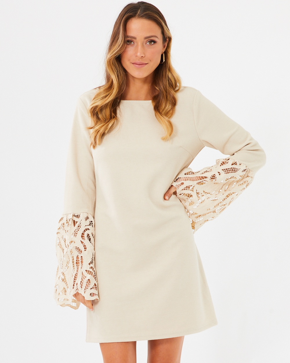 Calli Loretta Dress Dresses Powder White Loretta Dress