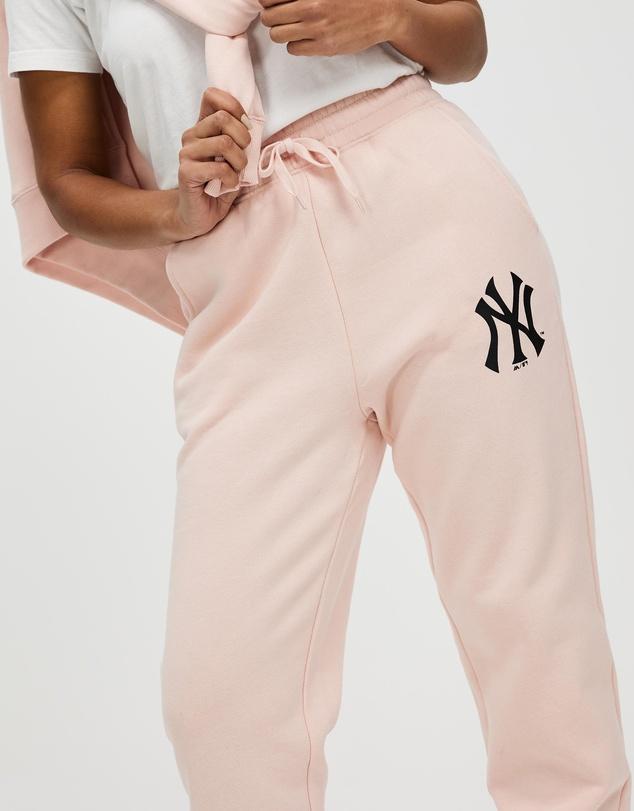 Women Baggy Logo Tracks - Yankees