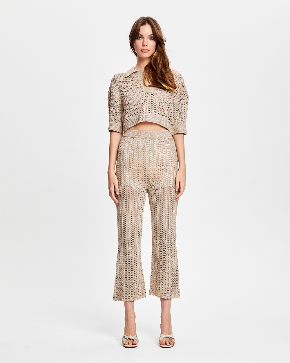 alice McCALL Flicker Fade Top Cropped tops Clay