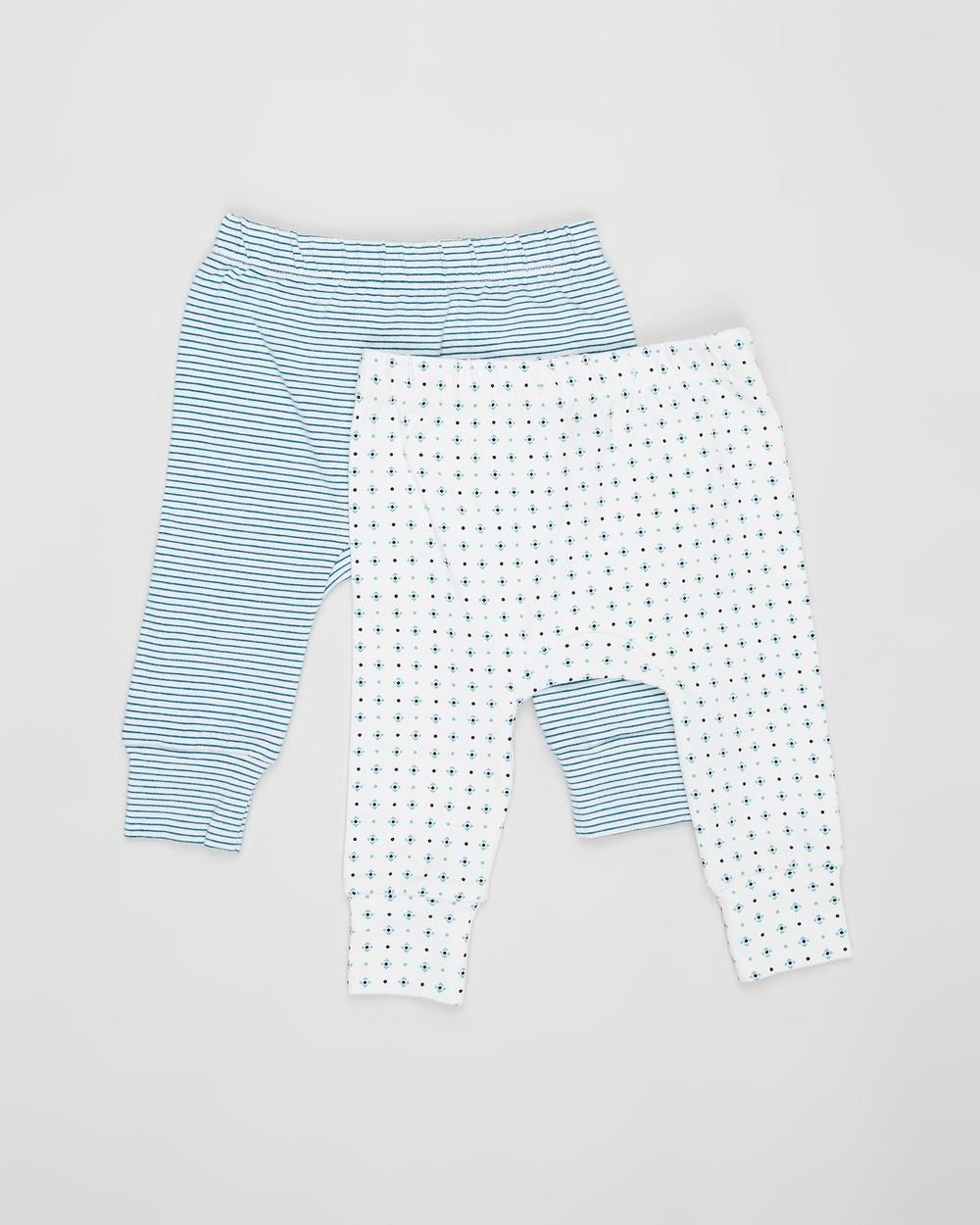 Pappe 2 Pack Joy Stretchy Leggings Babies Pants Corsair & Mint Diamond 2-Pack