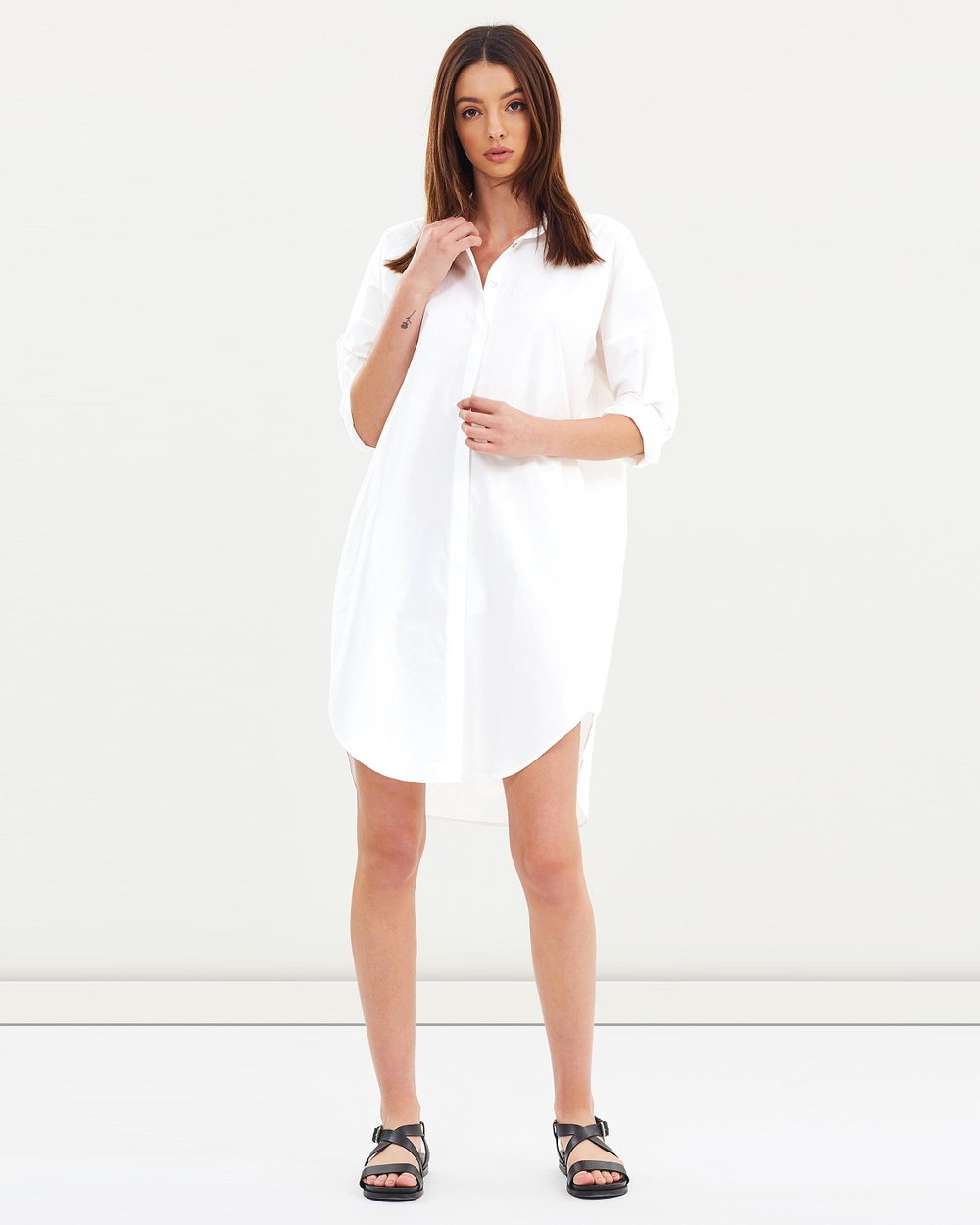 Assembly Label Cotton Shirt Dress Dresses White Cotton Shirt Dress