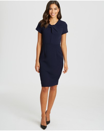 Willa - Catherine Twist Neck Dress