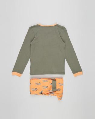 Cotton On Kids Noah Long Sleeve Pyjama Set   Kids Teens - Two-piece sets (Stay Hoppy & Silver Sage)