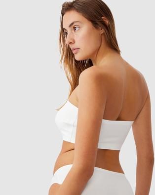 Cotton On Body Everyday Bonded Bandeau - Strapless Bras (Cream)