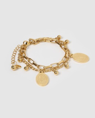 Miz Casa and Co Soph Bracelet Gold Jewellery Gold