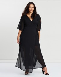 Atmos&Here Curvy - ICONIC EXCLUSIVE - Wrap Maxi Dress