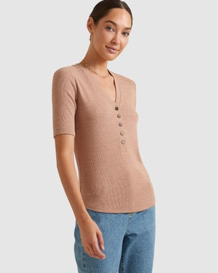 Sportscraft - Remy Cotton Modal Tee - T-Shirts & Singlets (Camel) Remy Cotton Modal Tee
