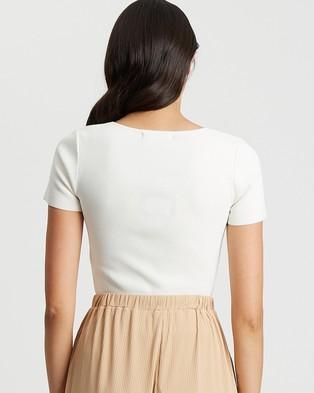 BWLDR Tatianna Knit Top - Tops (White)