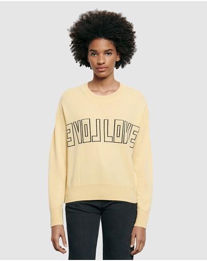 Sandro Yelli Sweater Yellow