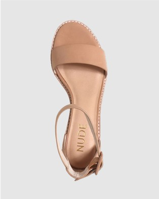 Nude Mickee - Mid-low heels (Blush Leather)