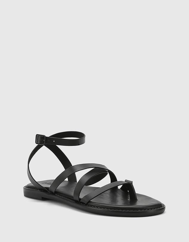 Women Cavani Leather Flat Sandals