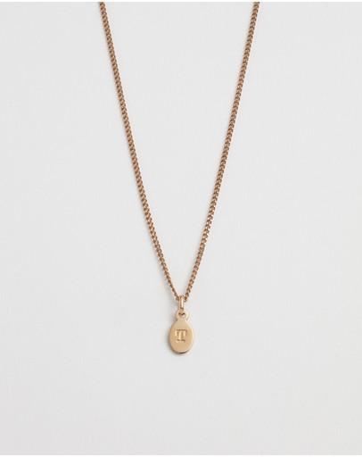 Kirstin Ash Initial T Necklace 18k Rose Gold Vermeil