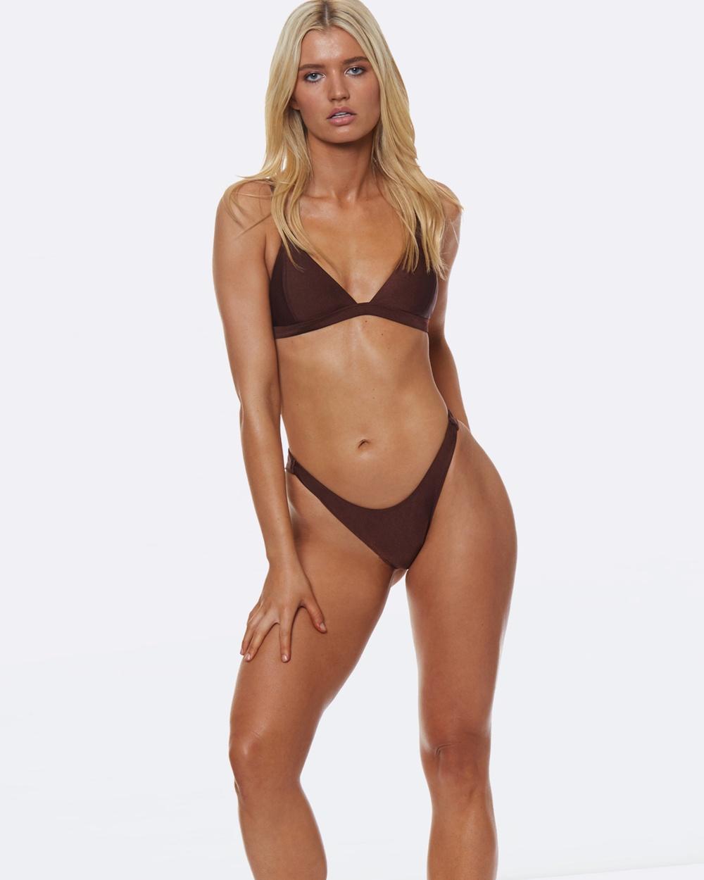 L'urv She Shimmers Bikini Bottoms Bikini Bottoms Orange She Shimmers Bikini Bottoms
