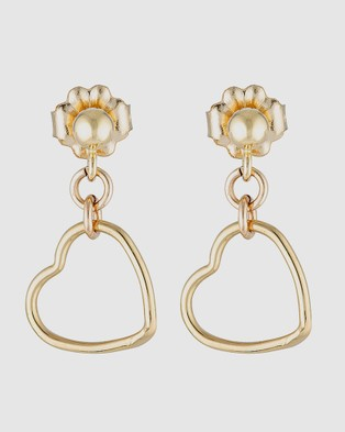 Elvis et Moi Mini Stud Heart - Jewellery (Gold)