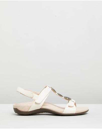 Vionic Farra Backstrap Sandals Woven Cream