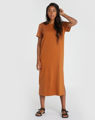 Cloth & Co. Organic Cotton Boxy T Dress - Dresses (Red Earth)