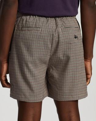 Stussy Rosetta Check Street Shorts - Shorts (Rust)