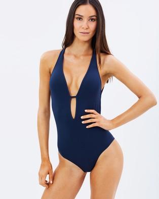 JETS – Jetset Plunge One Piece – One-Piece Swimsuit Ink