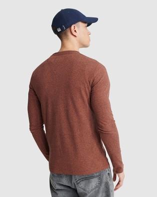 Superdry Orange Label Vintage Embroidered Long Sleeve Top - Long Sleeve T-Shirts (Desert Orange Grit)