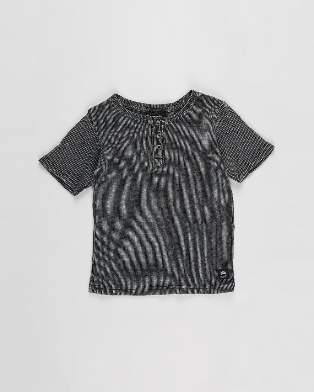 St Goliath - Acid Waffle Henley Tee   Kids - T-Shirts & Singlets (Black) Acid Waffle Henley Tee - Kids