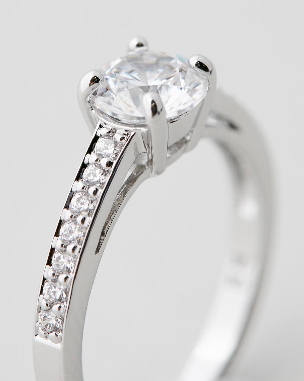 Swarovski Attract Pave Ring Jewellery Silver