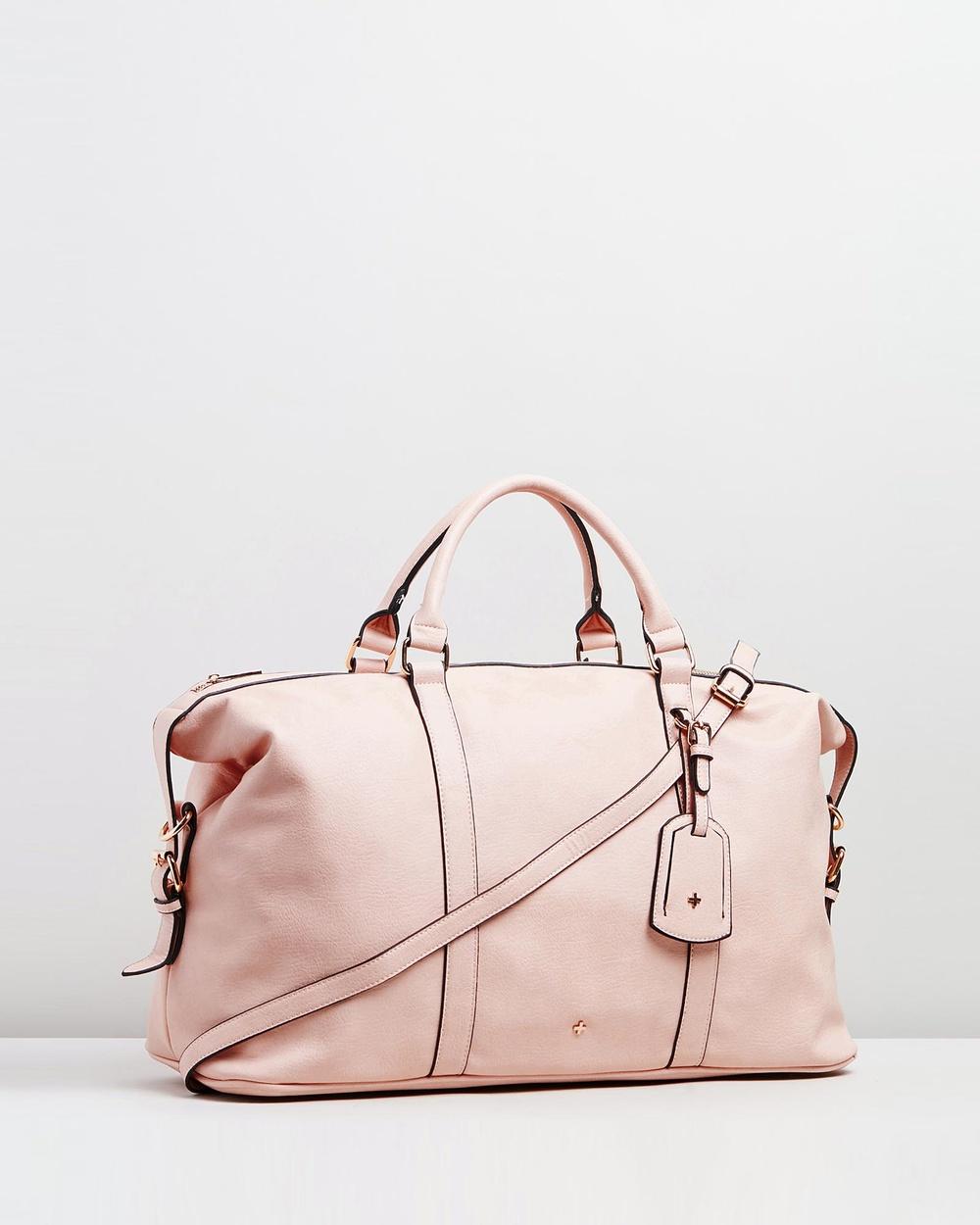 PETA AND JAIN Reagan Weekender Bag Clutches Pink