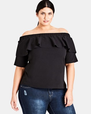 City Chic – Play Date Top Black