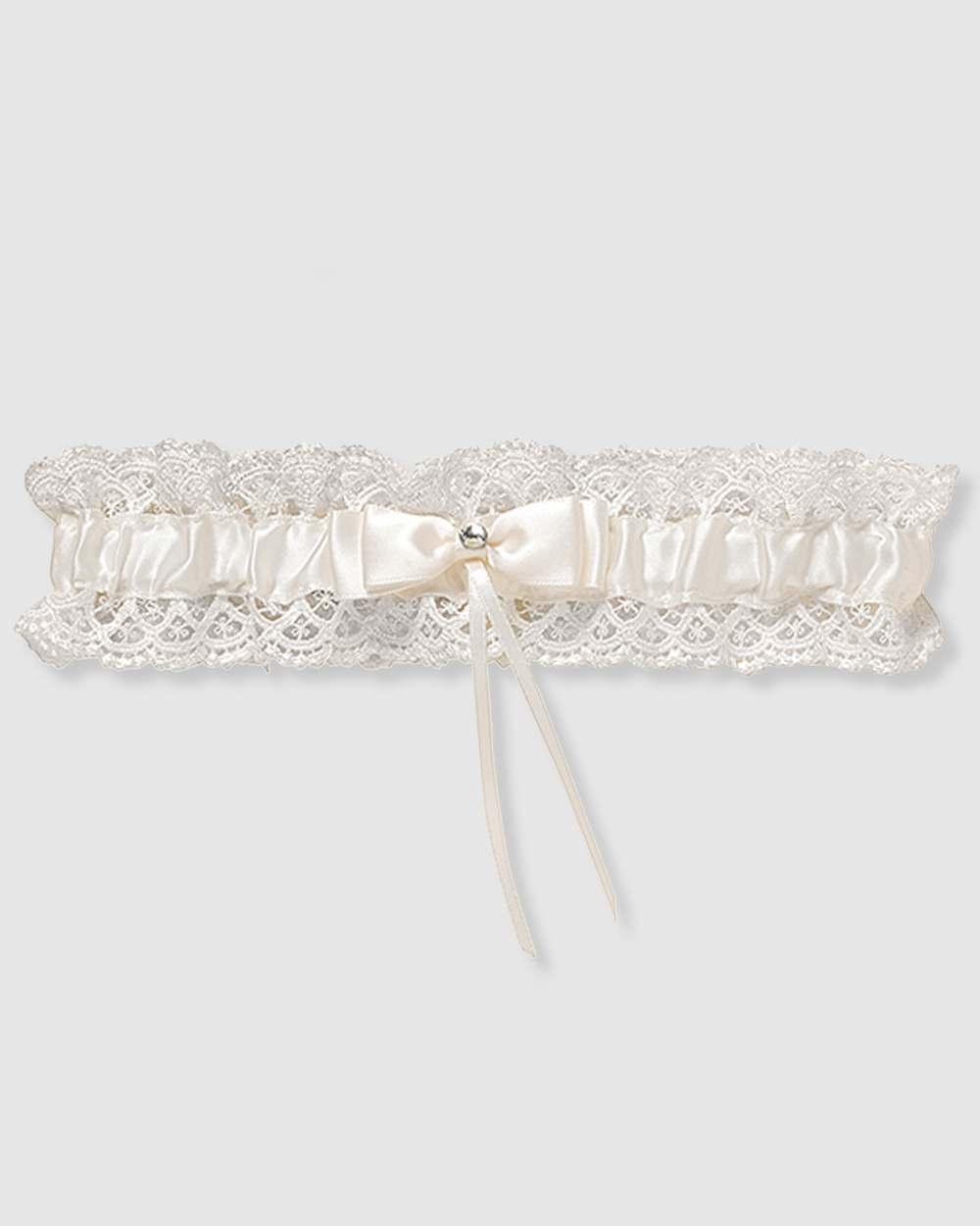 B Free Intimate Apparel Bridal Garter Vintage Lace Wedding & Ivory