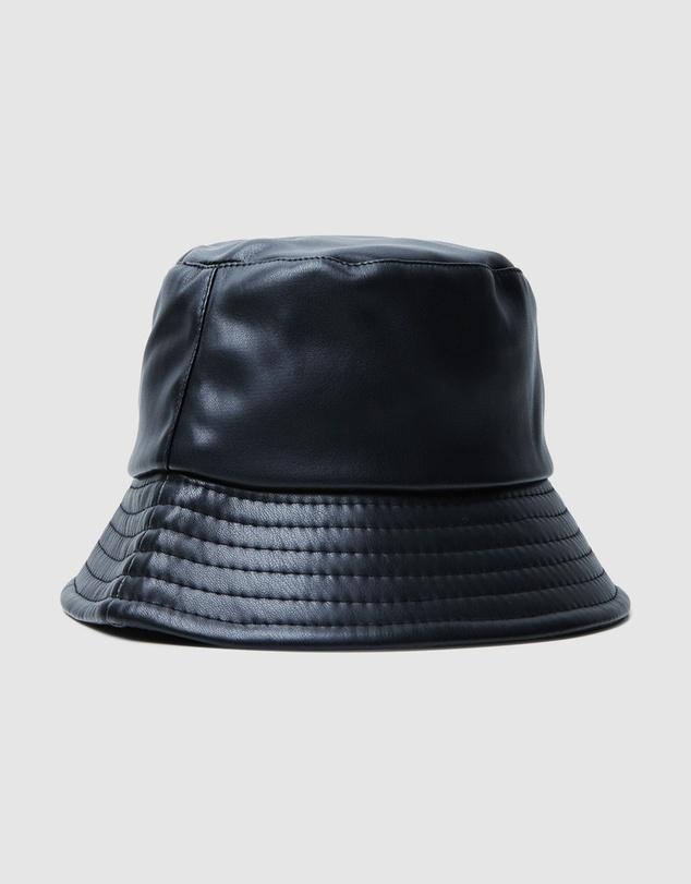 Women Agatha Leather Look Bucket Hat
