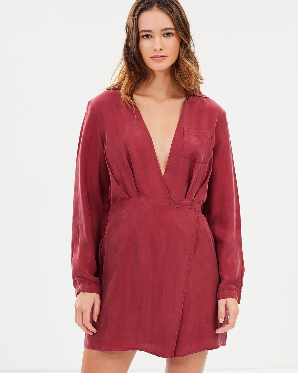 Third Form Essential Cross Shirt Dress Dresses Garnet Essential Cross Shirt Dress